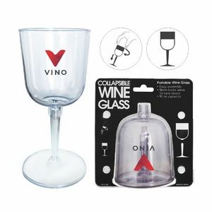 10 Oz. Portable-Collapsible Economy Portable Wine Glass